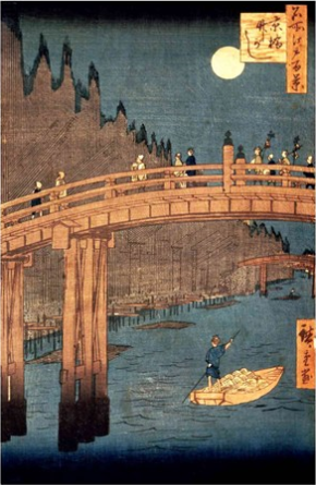 kyoto-bridge-by-moonlight-by-utagawa-hiroshige